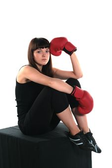 Free Girls In Boxing Stock Image - 10101631