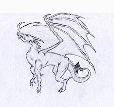 European Fire Dragon Stock Image