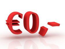 Free Zero Euro Royalty Free Stock Photography - 10102777