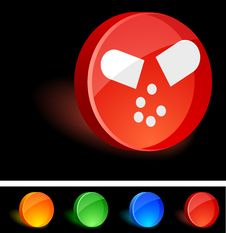 Pill Icon. Royalty Free Stock Photography