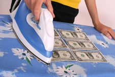 Free Ironing American Dollars Royalty Free Stock Photos - 10103228