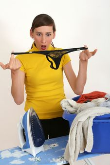 Free Female Slip In Laundry Basket Royalty Free Stock Images - 10103259