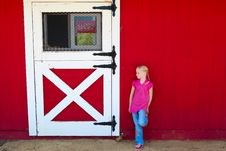 Free Girl In Front Of The Barn Stock Images - 10103534