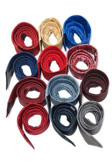 Free Milticolour Male Ties Convolute Ring Stock Images - 10104544