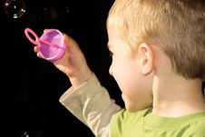 Free Blowing Bubbles Stock Photo - 10104780