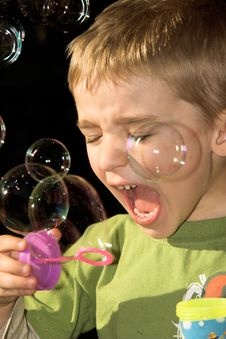 Free Blowing Bubbles Stock Images - 10104794