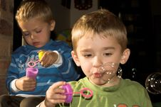 Free Blowing Bubbles Stock Images - 10104804