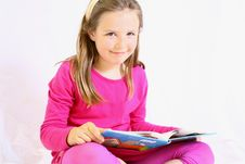 Free Young Cute Girl With Book. Royalty Free Stock Images - 10104939