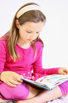 Free Young Cute Girl With Book. Stock Images - 10104944