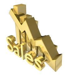 Free Sales Statistics Graphic In Gold Stock Image - 10105031