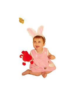 Free Baby-girl With Butterfly Royalty Free Stock Photography - 10105477