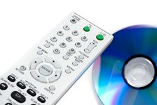 Remote Control And DVD Disk Royalty Free Stock Image