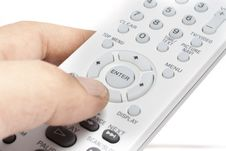 Free Remote Controller With Hand Stock Image - 10105811