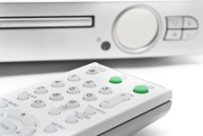 Free Remote Controller With DVD Player Stock Images - 10105894