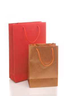 Free Two Paper Bags Royalty Free Stock Photography - 10107187