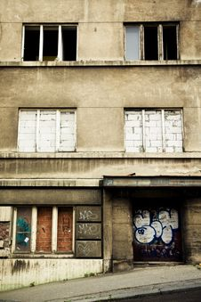 Free Abandoned Soviet Old Building Royalty Free Stock Photo - 10107235