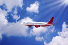 Free Airplane In Air Royalty Free Stock Photo - 10107675