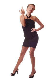Free Woman In Black Dress Stock Photos - 10108273