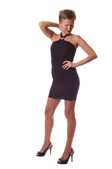 Free Woman In Black Dress Royalty Free Stock Photography - 10108277