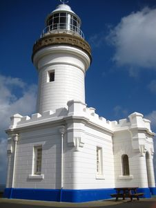 Lighthouse At Byron Bay Stock Images
