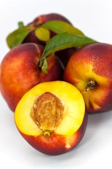 Free Fresh Ripe Peach , Close Up Royalty Free Stock Image - 10109136