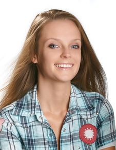 Free Portrait Of Smiling Young Woman Stock Images - 10109354
