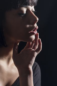 Free Beauty, Lip, Nose, Chin Stock Images - 101019884