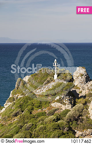 Free Lighthouse In Island Samos In Greece Stock Photography - 10117462