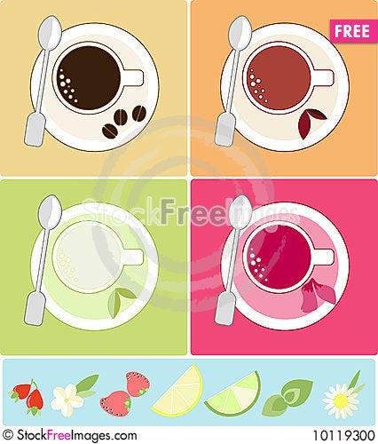 Tea and coffee Stock Photo