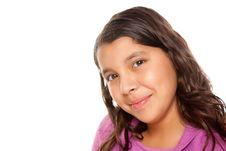 Pretty Hispanic Girl Portrait Stock Photo