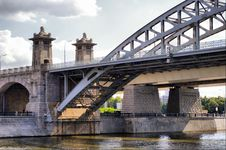 Free Moscow Railway Bridge Royalty Free Stock Photography - 10111547