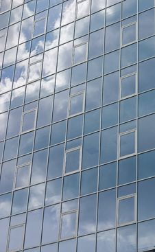Free Clouds Reflected On Windows Royalty Free Stock Photos - 10111668