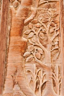 Free Over 80 Years Old Wood Engraving In Thai Style Royalty Free Stock Photo - 10111785