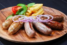 Assortment Of Grilled Sausages Royalty Free Stock Photo