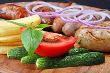 Assortment Of Grilled Sausages Stock Photo