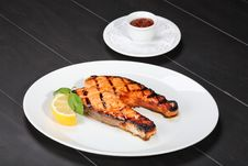 Free Grilled Salmon Royalty Free Stock Images - 10112089