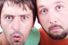 Two Surprised Men Stock Photo