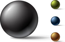 Free Colored Balls Royalty Free Stock Photos - 10112428