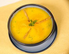 Free Peach And Carrot Soup Royalty Free Stock Images - 10115049