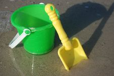 Free Pail And Shovel Stock Photography - 10115402