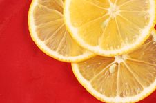 Free Three Slice Of Orange Stock Photography - 10117692