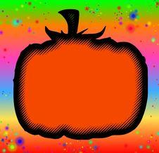 Psychedelic Blank Halloween Pumpkin Stock Photos