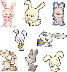 Rabbit Set Five Stock Photography