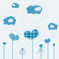 Free Heart Pattern Vector Stock Image - 10119271