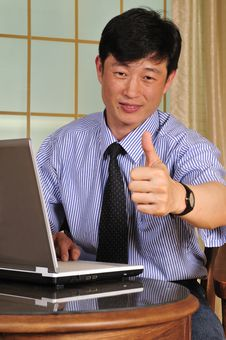 Successful Manager In The Office Stock Images