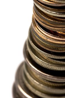 Free Coins Stack Royalty Free Stock Images - 10119939