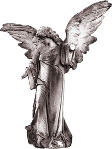 Free Black And White, Statue, Figurine, Angel Royalty Free Stock Photos - 101103578