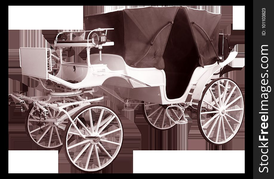Carriage, Black And White, Horse And Buggy, Chariot