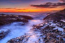 Free Sunrise On Seacoast Royalty Free Stock Image - 101152586
