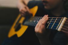 Free Guitar, Musical Instrument, String Instrument Accessory, Yellow Royalty Free Stock Image - 101165516